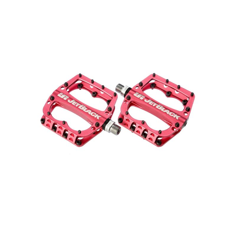 JetBlack Superlight MTB Pedals Low Profile, Red Sealed Bearings Cromo Axle JetBlack Products