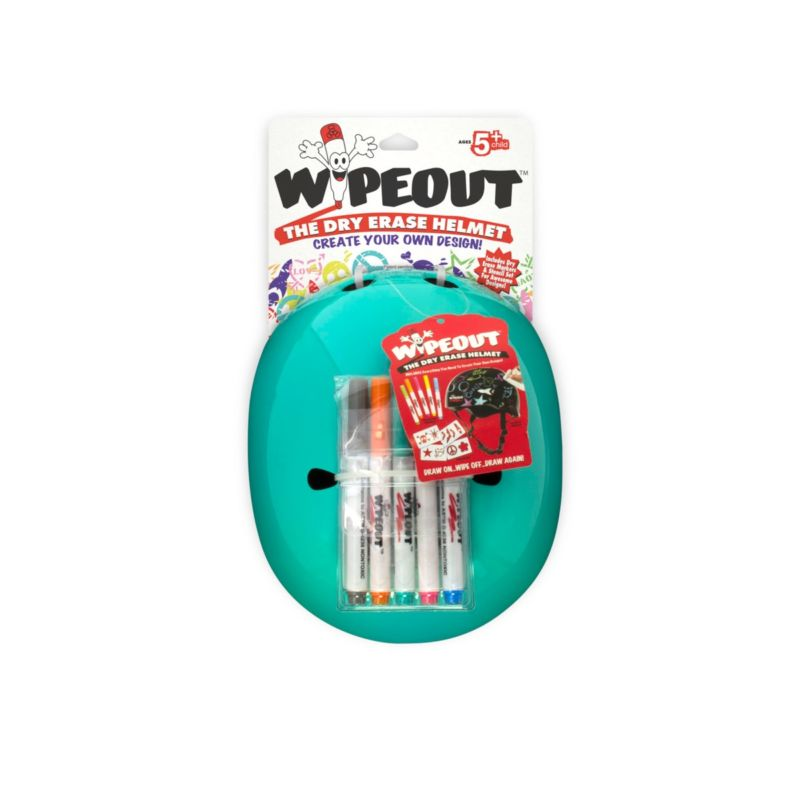 Wipeout Dry Erase Helmet, Teal, 3+ JetBlack Products